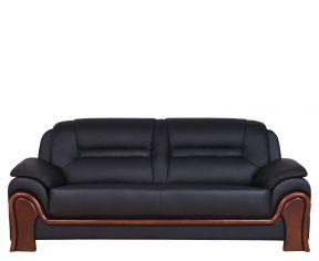 3-Sitzer Sofa PALLADIO Schwarz