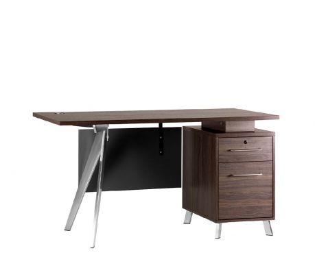 Schreibtisch mit Container PLATINUM 14A 140 cm