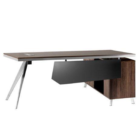 Schreibtisch mit Container PLATINUM 20C 200 cm