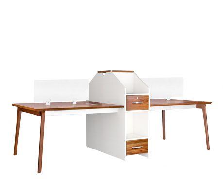 Moderner Schreibtisch für 4 Personen EVOLUTIO B305-4