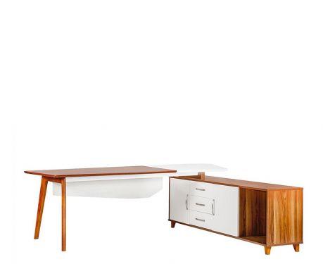 Moderner Schreibtisch mit Sideboard EVOLUTIO A309 240 cm