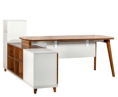 Moderner Schreibtisch mit Sideboard EVOLUTIOA109 180 cm
