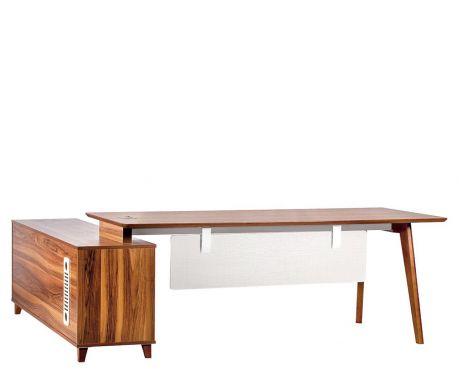 Moderner Schreibtisch mit Sideboard EVOLUTIO A609 200 cm