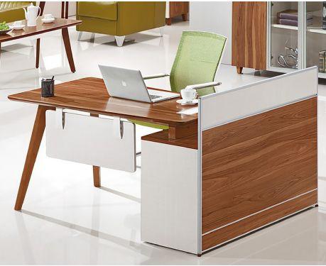 Moderner linksseitiger Schreibtisch mit Sideboard EVOLUTIO A909 140cm