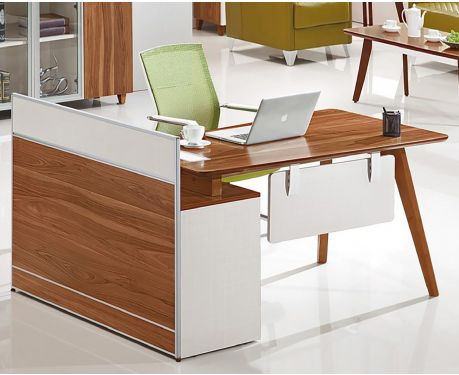 Moderner rechtsseitiger Schreibtisch mit Sideboard EVOLUTIO A909 140cm