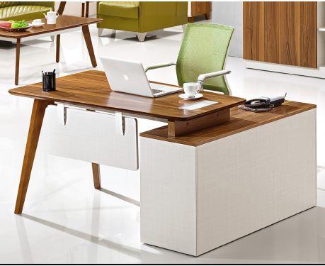 Moderner linksseitiger Schreibtisch mit Sideboard EVOLUTIO A909B 140cm