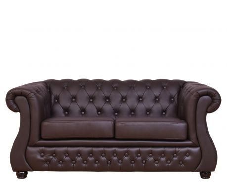 2-Sitzer Sofa CHESTER LUX Braun