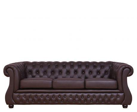 3-Sitzer Sofa CHESTER LUX Braun