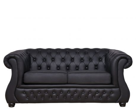 2-Sitzer Sofa CHESTER LUX Schwarz