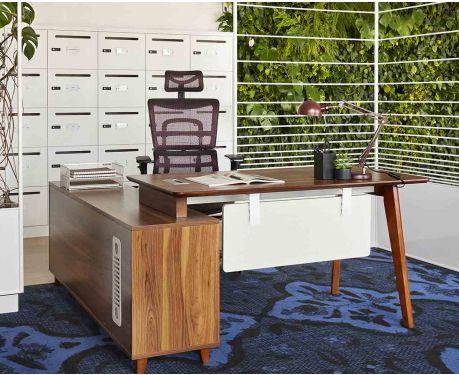 Moderner Schreibtisch mit Sideboard EVOLUTIO A609 140 cm