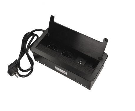 Versenkbare Einbau-Tischsteckdose OR-AE-13125/B