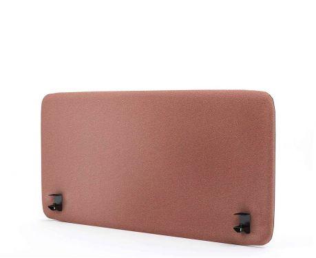 Akustik-Trennwand für den Schreibtisch 120x60 Rosa