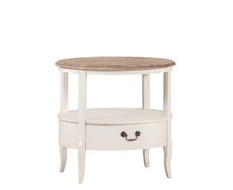 Tisch BARILLE Nuss / Ecru