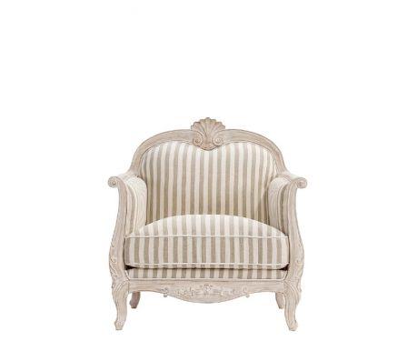 Sessel ELODIE I Beige und Weiß