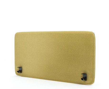 Akustik-Trennwand für den Schreibtisch 120x60 gelb