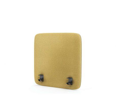 Akustik-Trennwand für den Schreibtisch 60x60 gelb